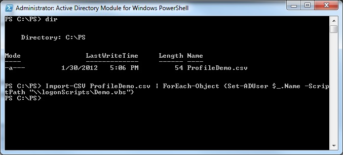 PowerShell : Set-ADUser and changing the login script